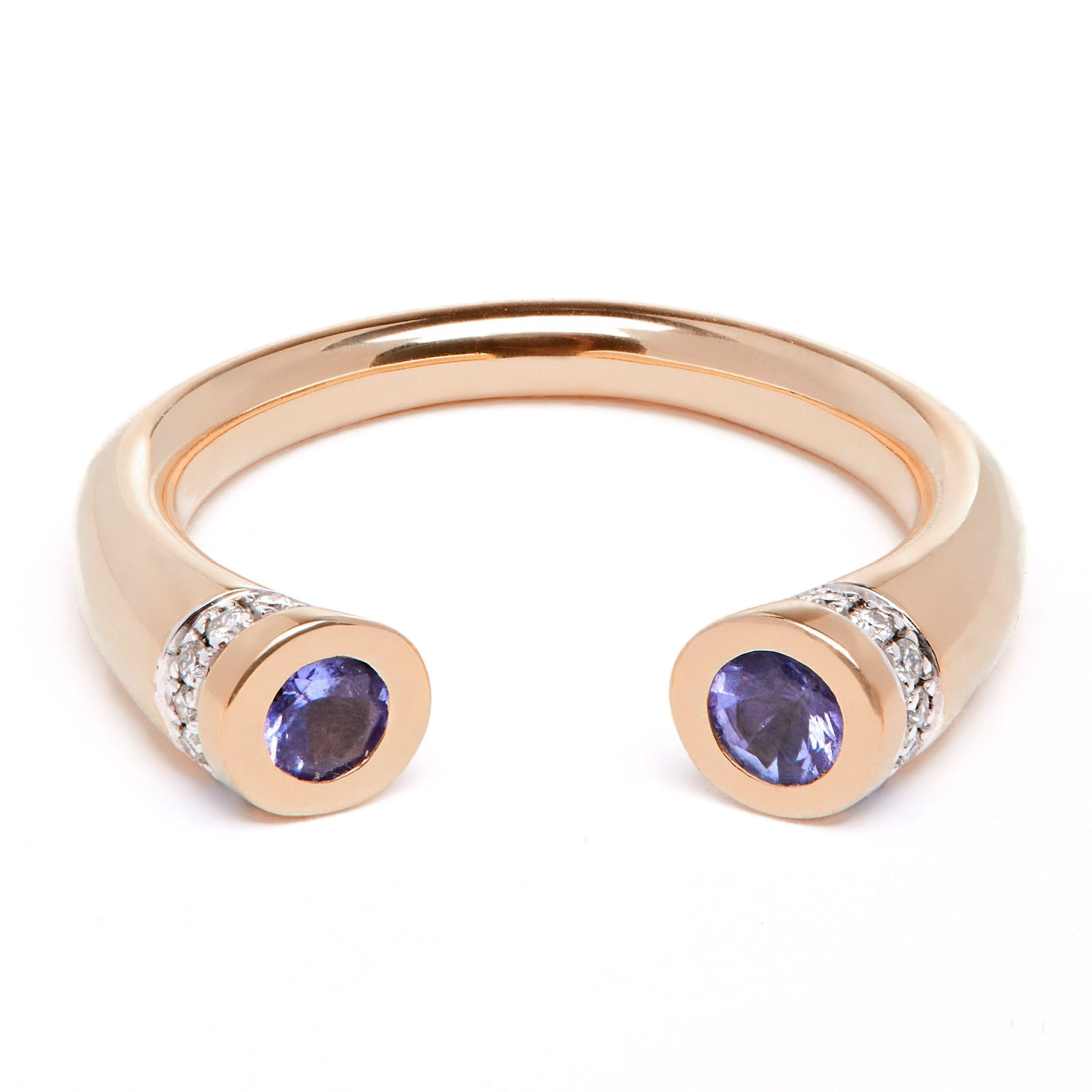 Chete Ring - Rose Gold, Tanzanite and Diamond