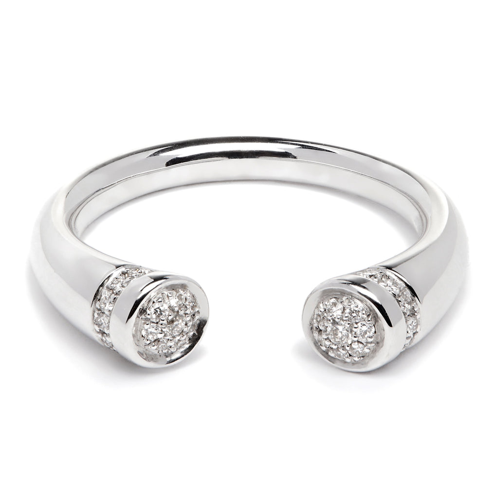 Chete Ring - White Gold & Diamond