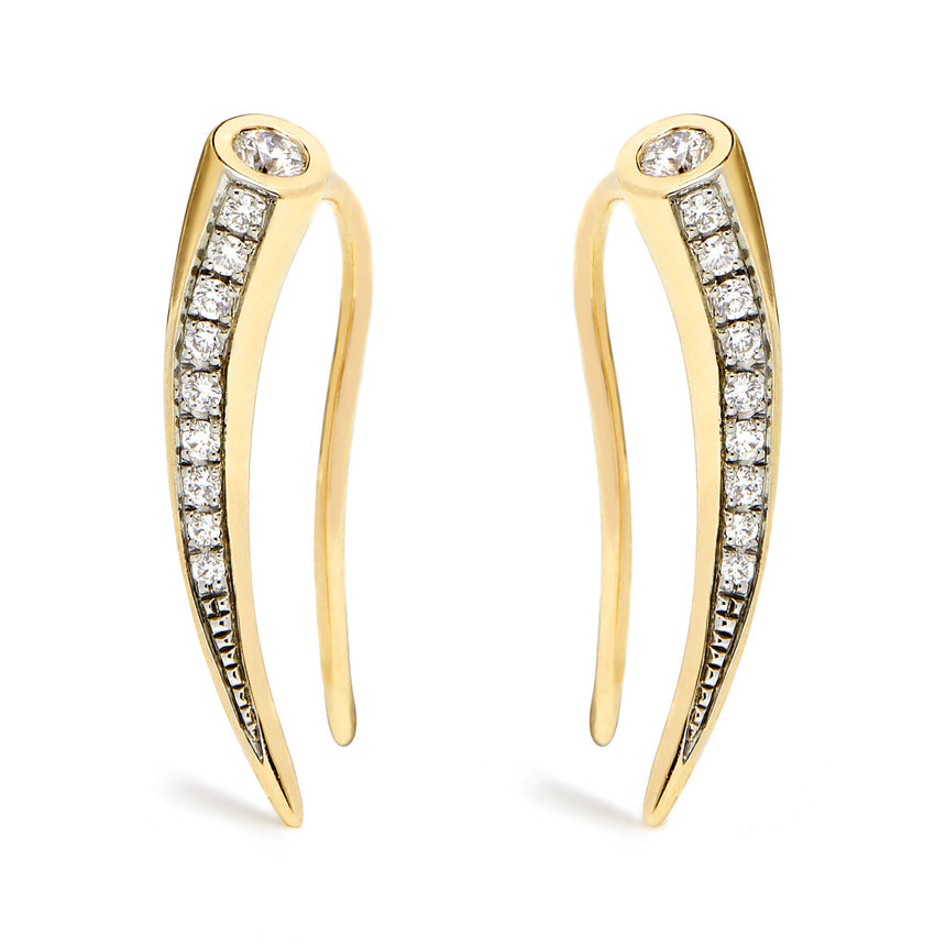 Chiawa Earrings - Yellow Gold Diamond