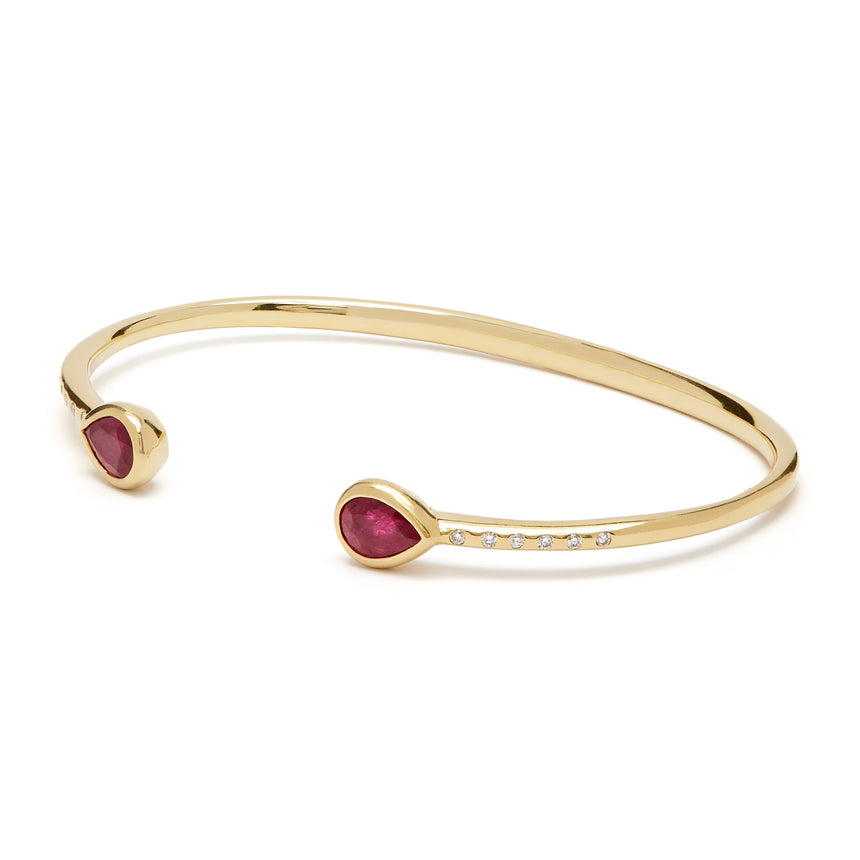 Chirundu Bangle - Ruby and Diamond