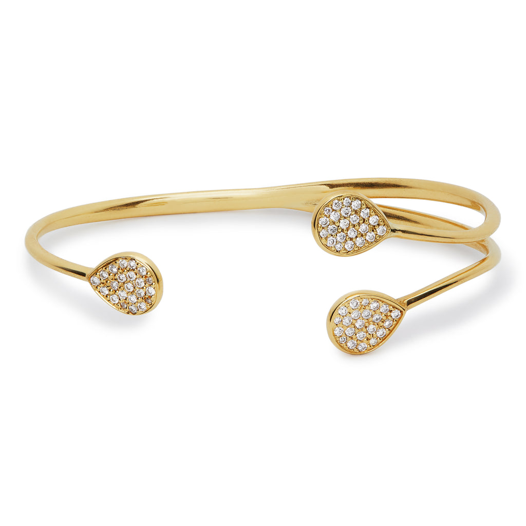 Chirundu Branch Bangle - Diamond
