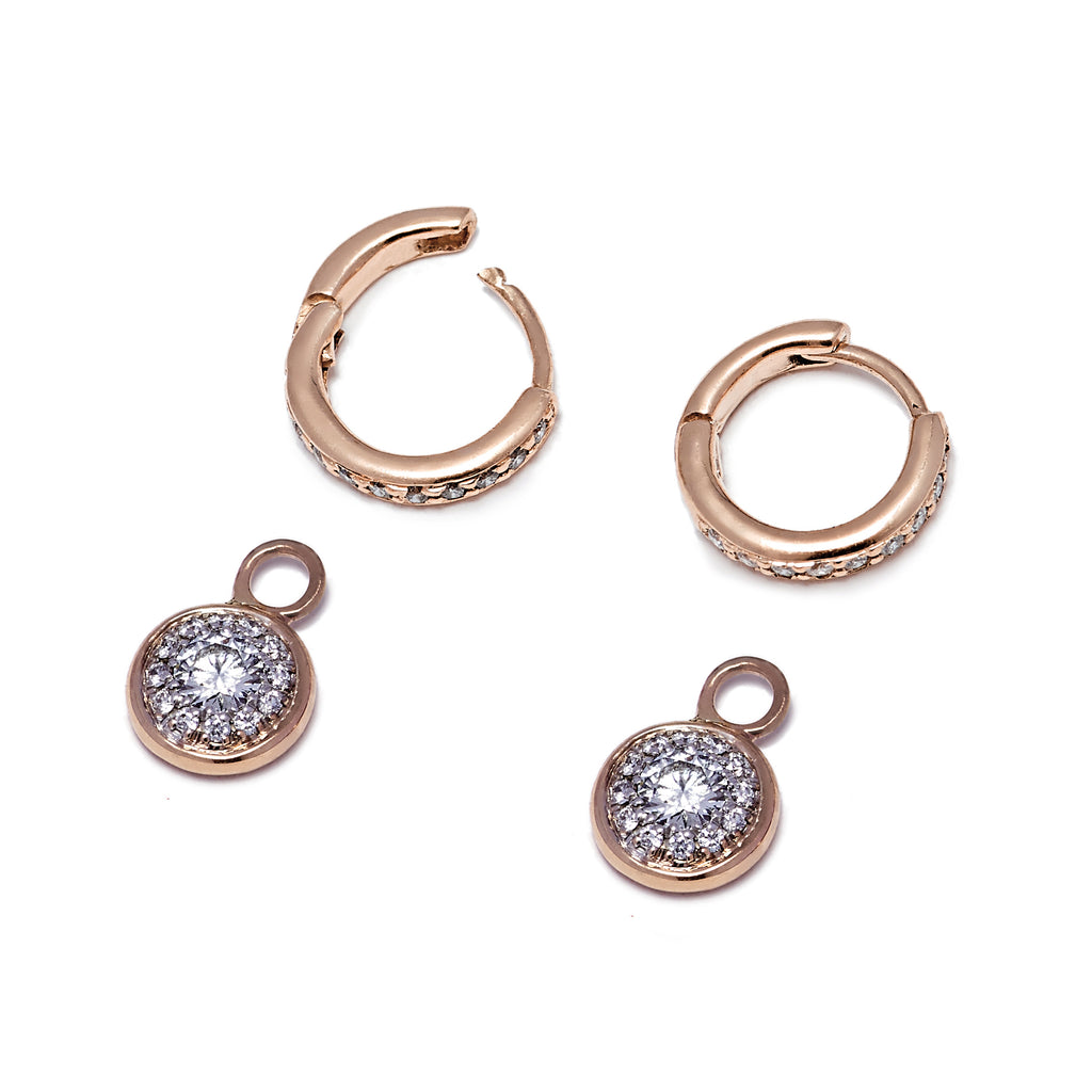 Twa Detachable Droplets - Diamond and Rose Gold