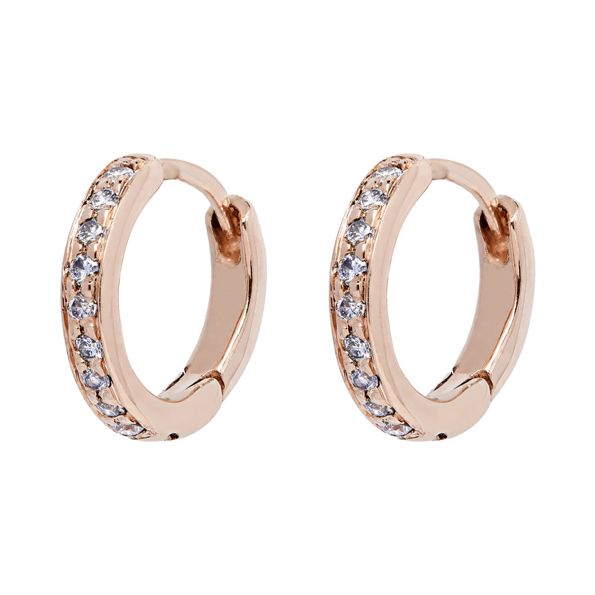 Twa Diamond Hoops - Rose Gold