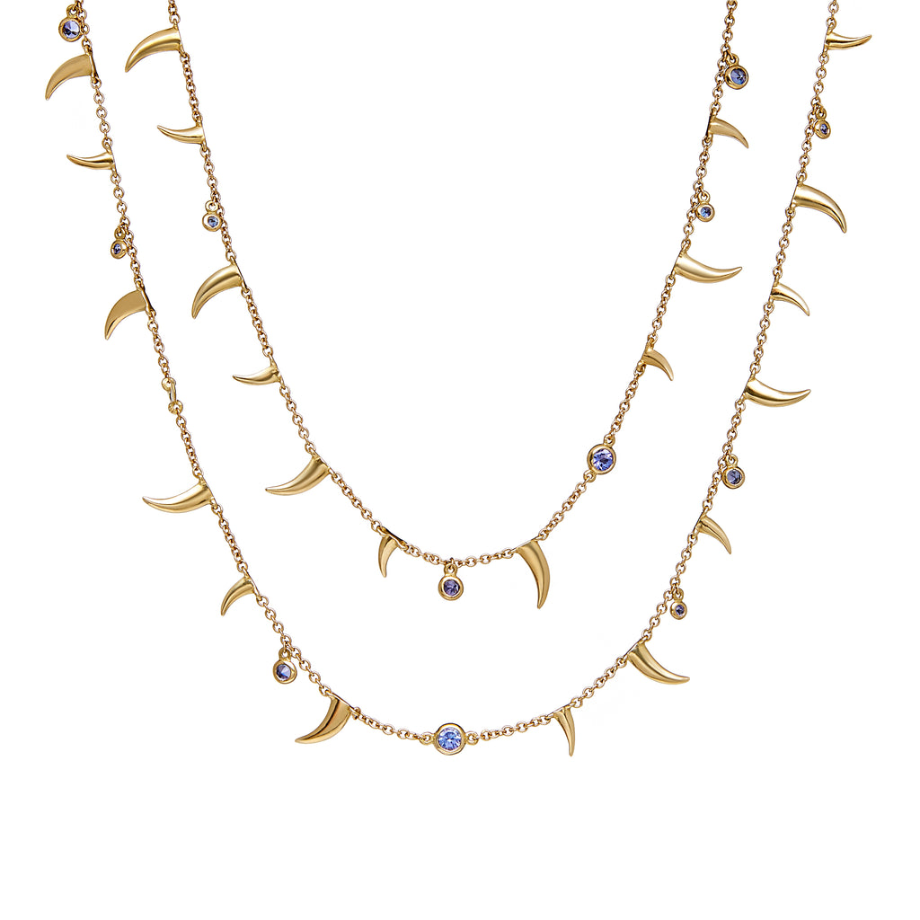 Extra Long Nyami Nyami Necklace - Tanzanite