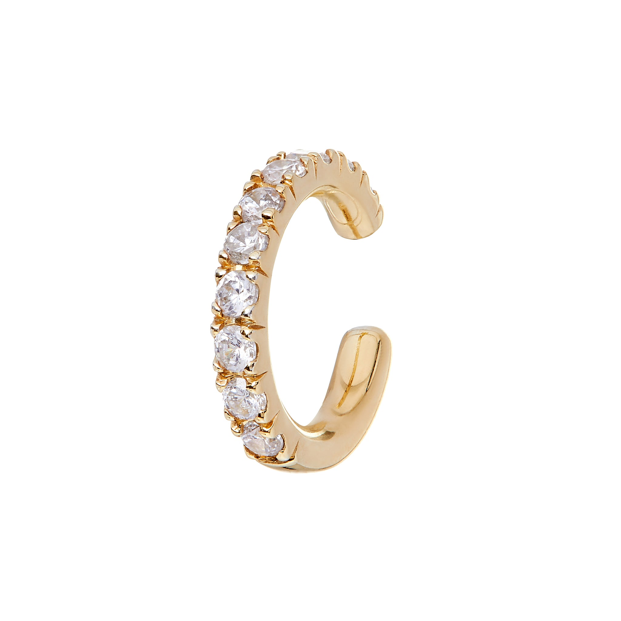 AYA Yellow Gold Diamond Cuffs