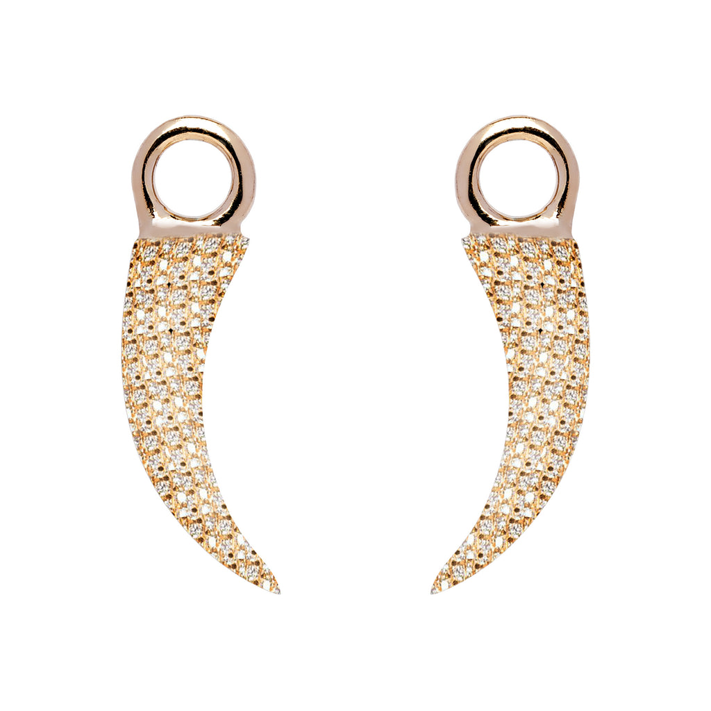 Detachable Tusk Droplets - Yellow Gold and Diamond