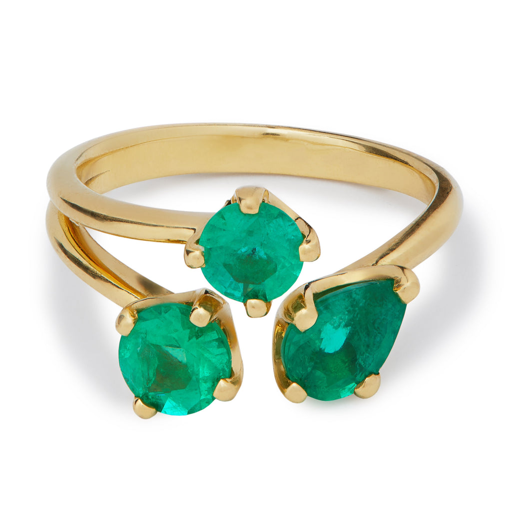 Emerald Tatu Ring