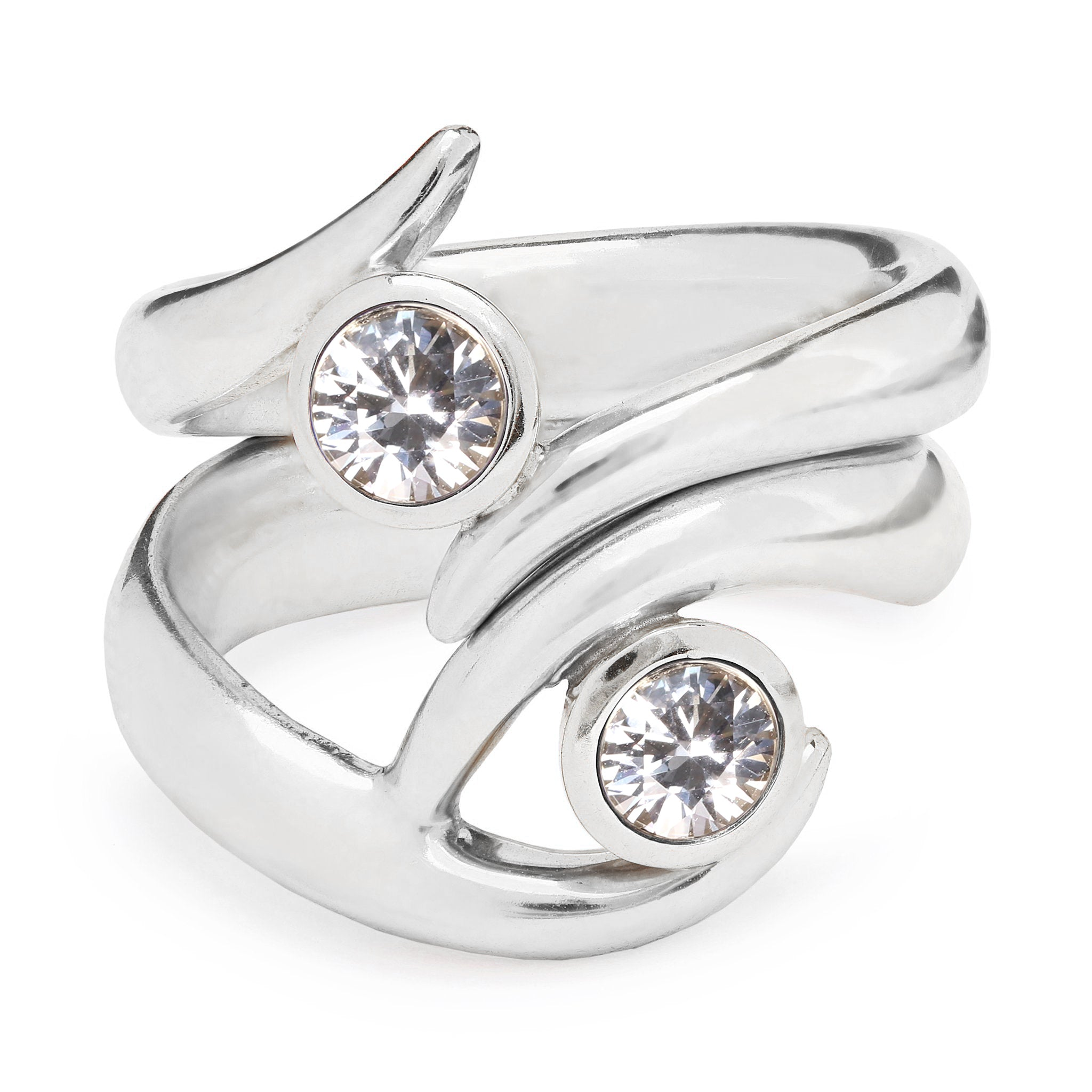 Mozambique Ring - White Gold and White Sapphire