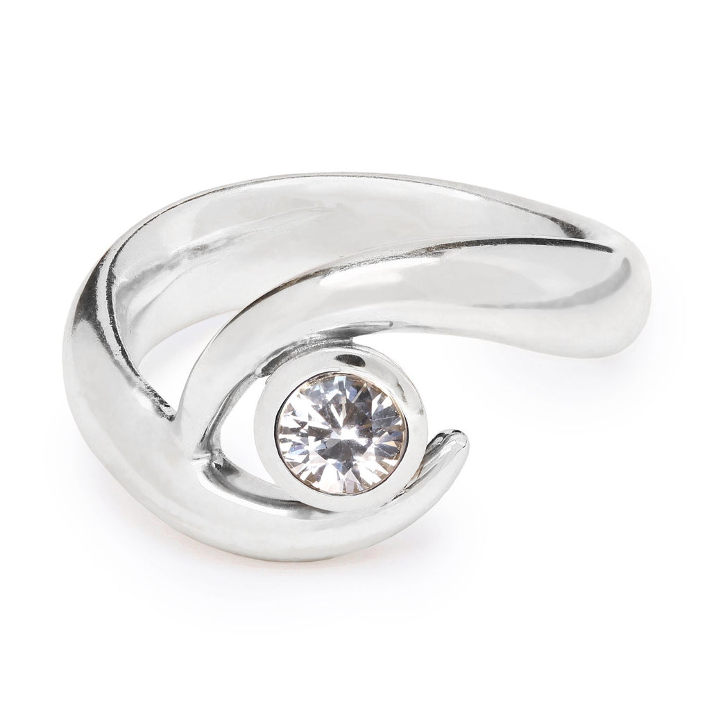Mozambique Ring - Single White Sapphire