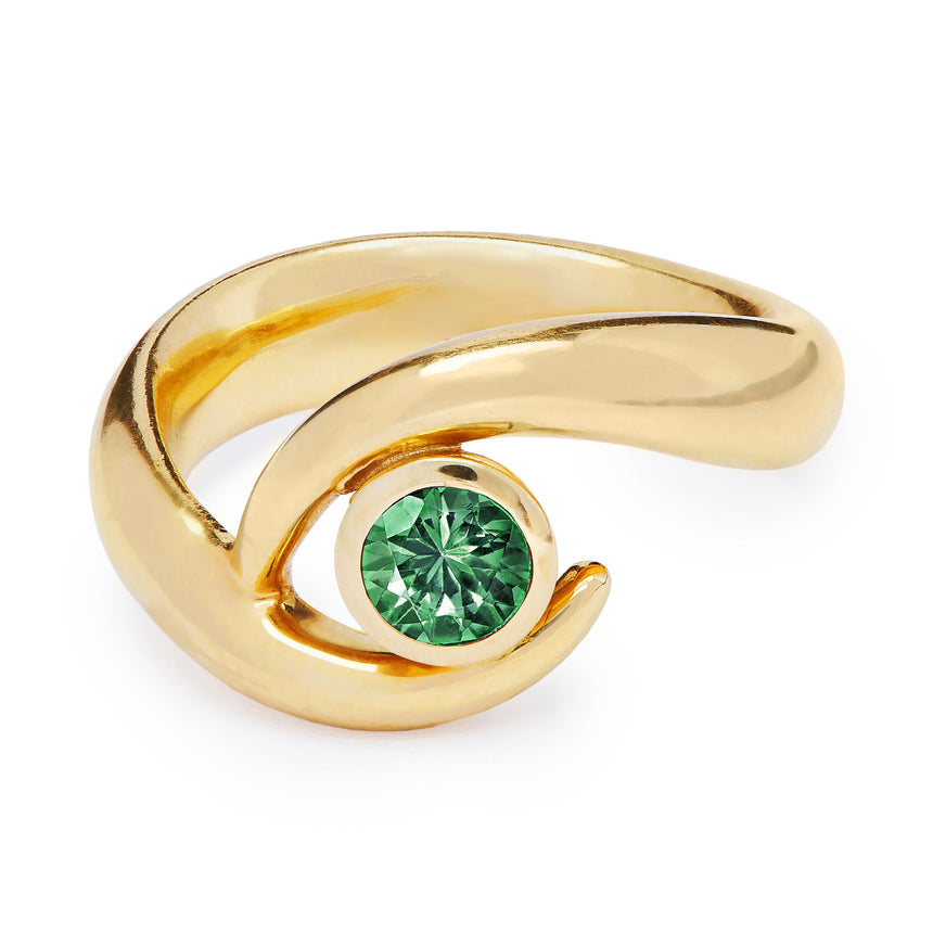 Mozambique Ring - Single Emerald