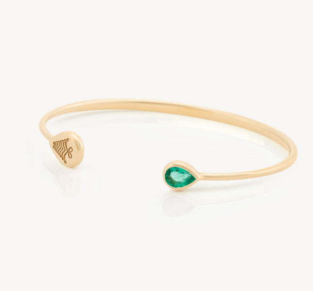 Kafue Bangle - Emerald