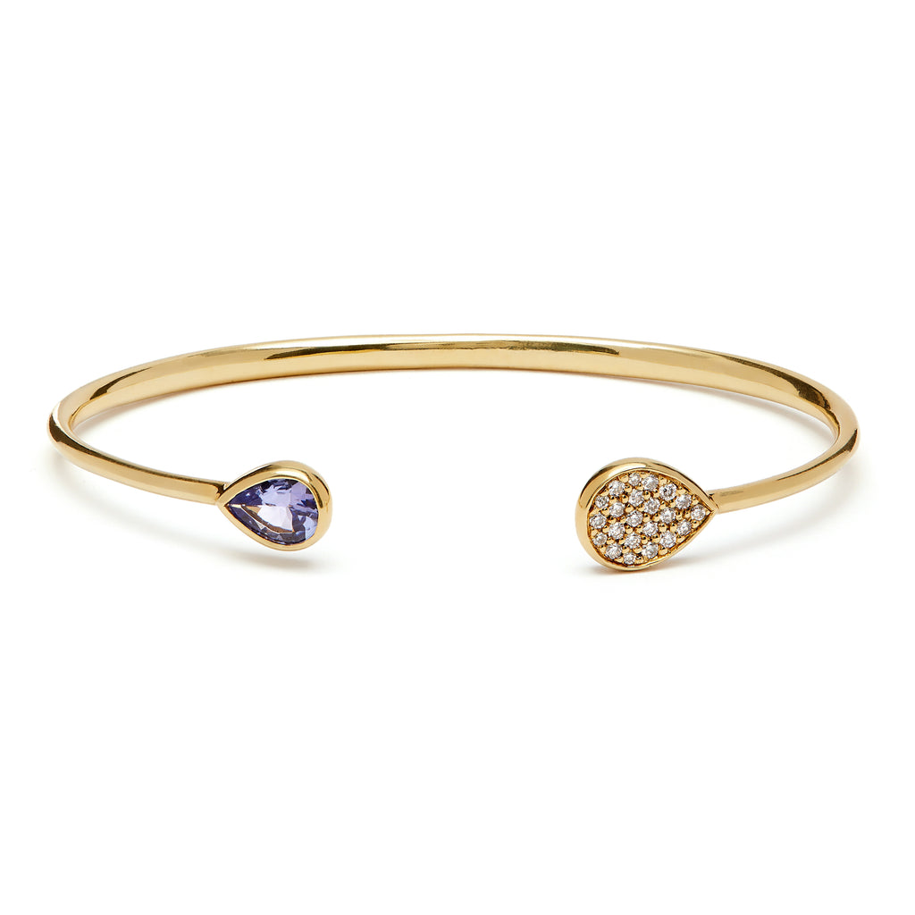Kafue Bangle - Tanzanite and Diamond
