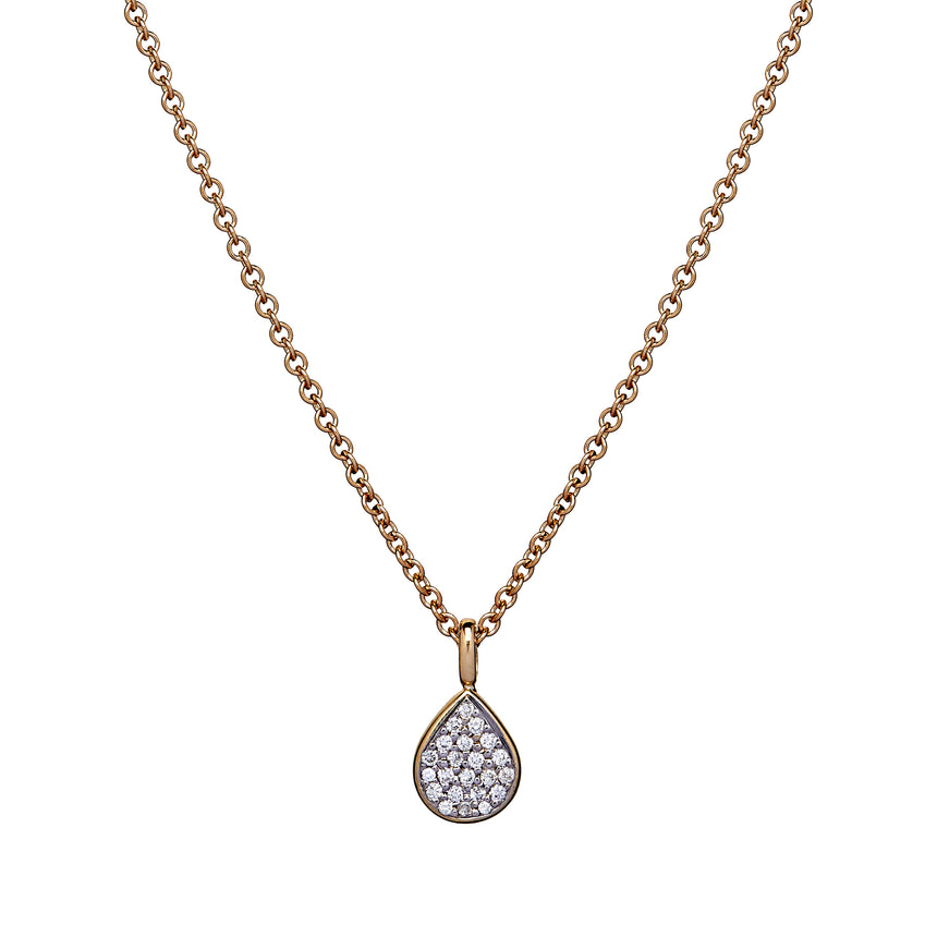 Pavé Peardrop Necklace - Diamond