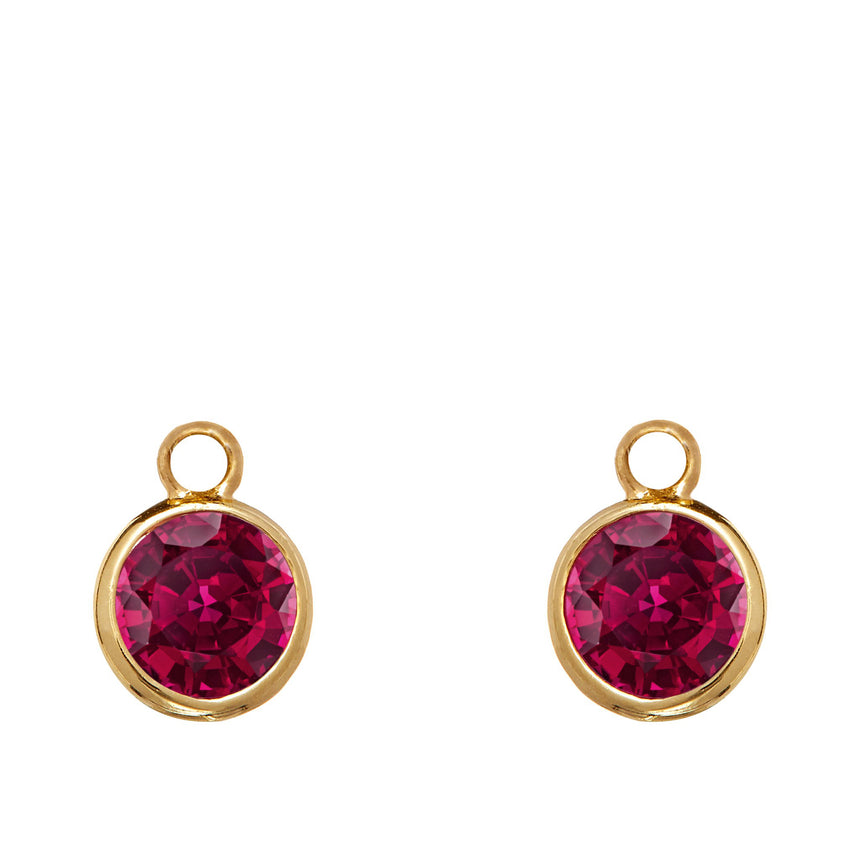 Twa Earrings - Ruby and Diamond