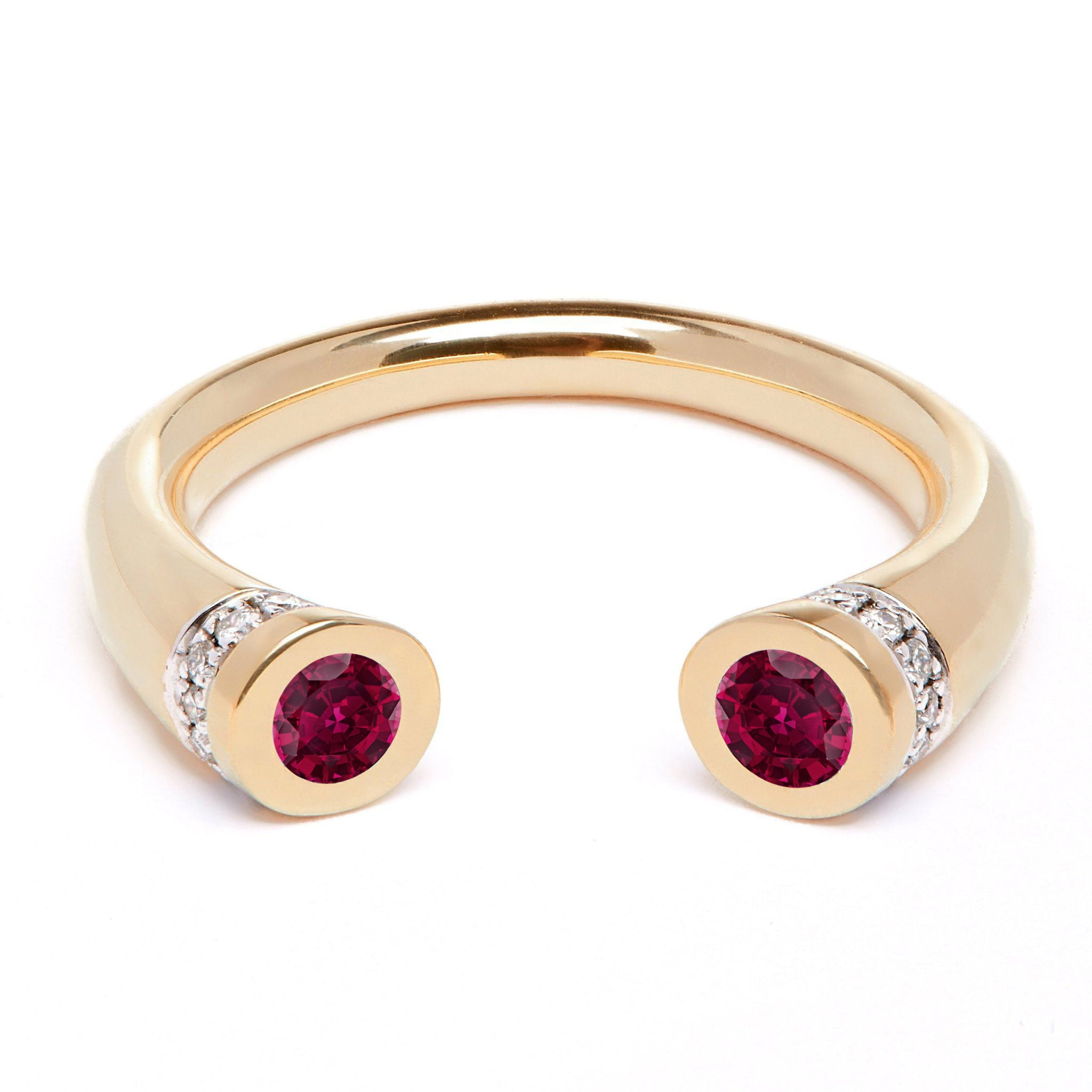 Chete Ring - Ruby and Diamond