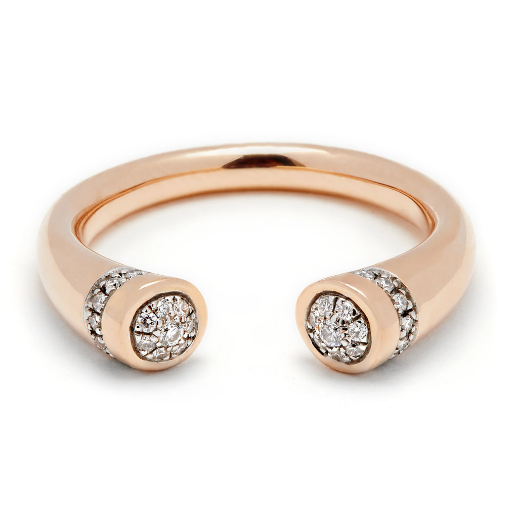 Chete Ring - Rose Gold & Diamond