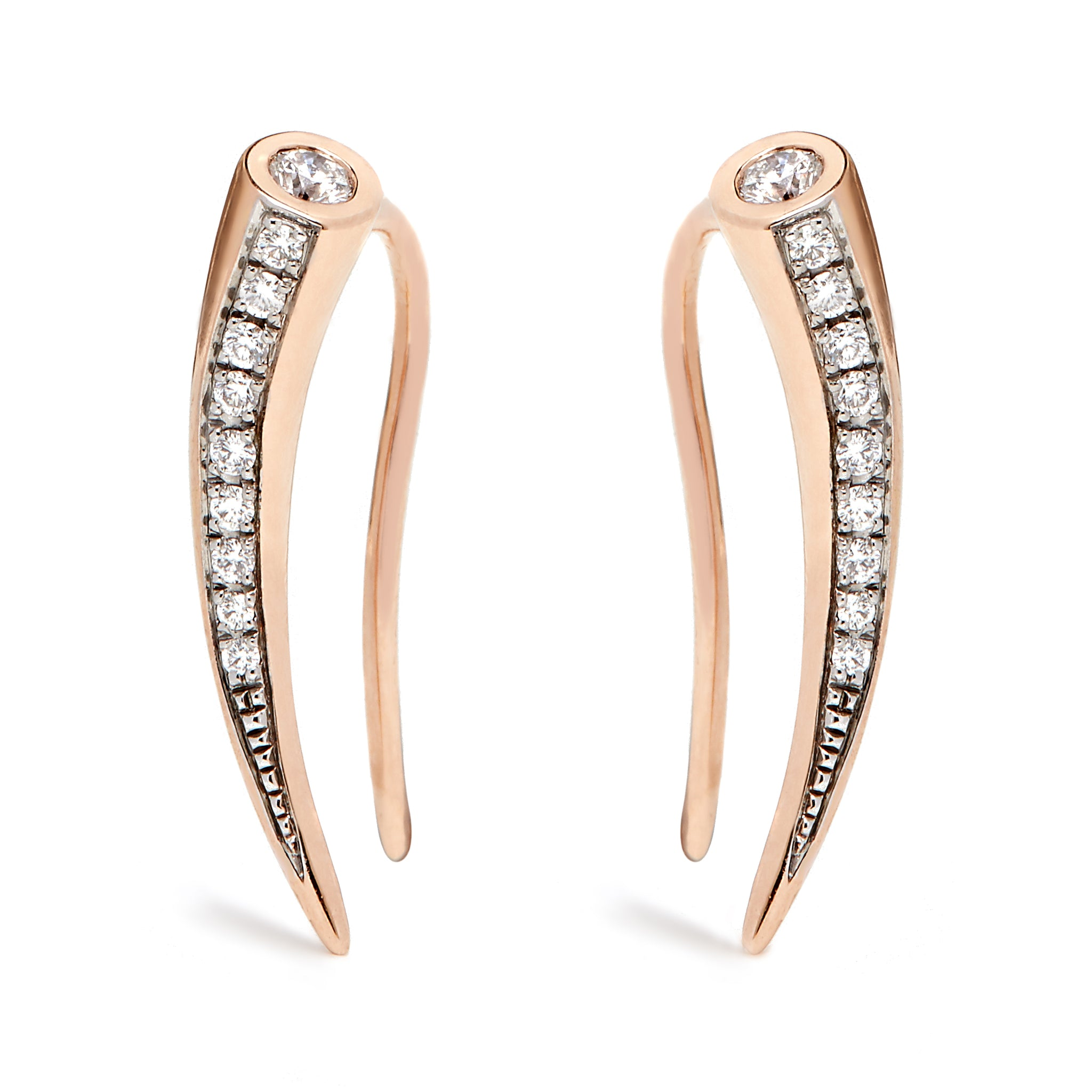 Chiawa Earrings - Rose Gold and Diamond