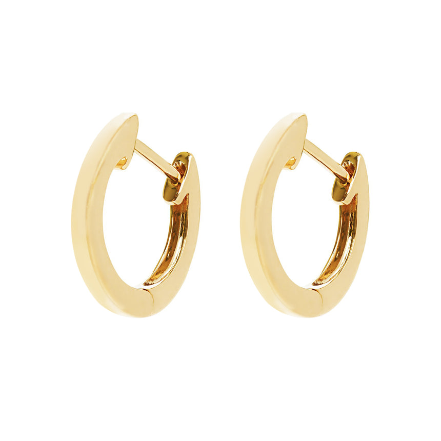 AYA Huggie Hoops - Yellow Gold