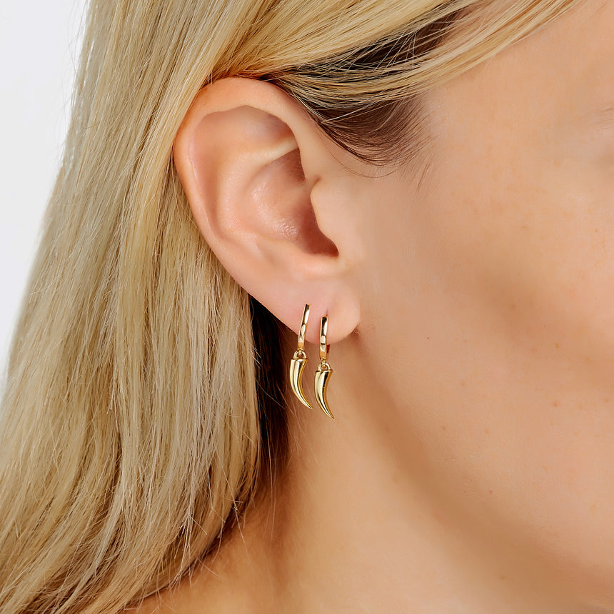 Tusk Earrings - Yellow Gold