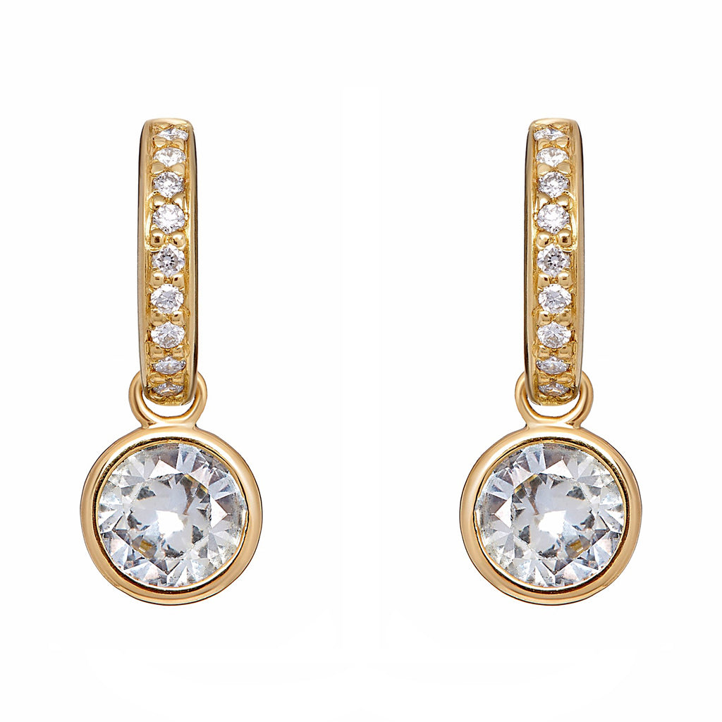 Twa Earrings - White Sapphire and Diamond