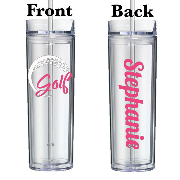 Golf 16 Ounce Acrylic Tumbler - Fancy Font