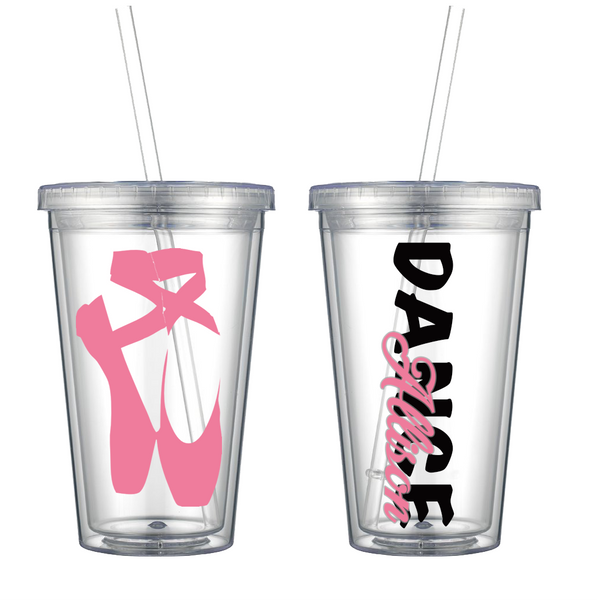Ballet Slippers Personalized Tumbler