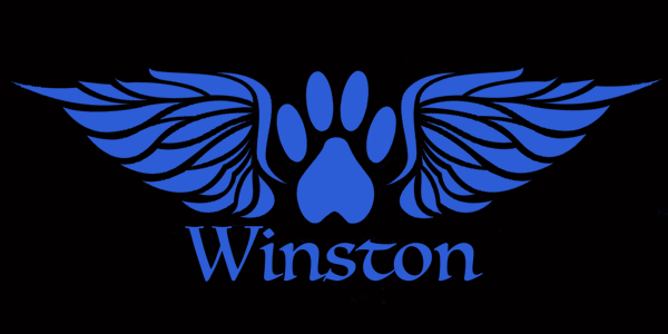 Personalized Paw with Angel Wings Decal