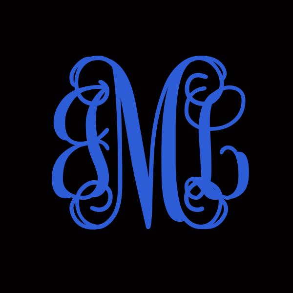 Monogram Decals - Choose Your Size