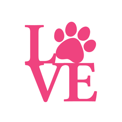 "Paw Print ""Love"" Decals"