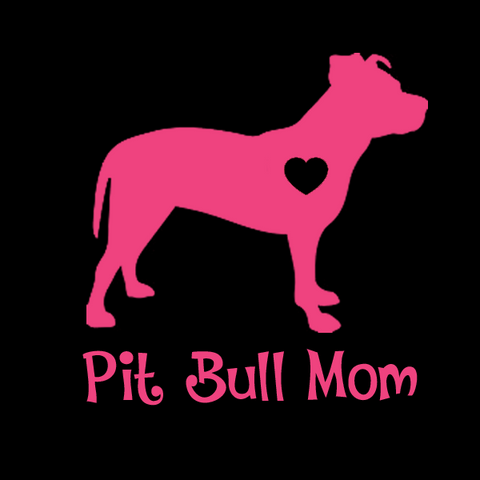 Pit Bull (Uncropped Ears) Mom Decals