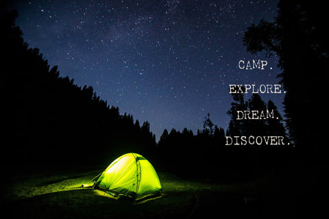 Camp - Discover - Dream - Explore  -  Canvas Print
