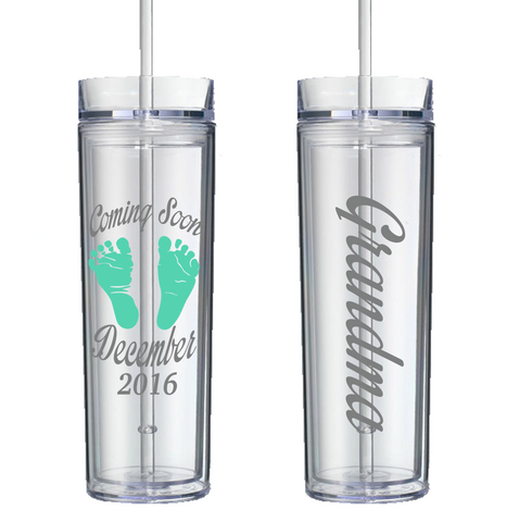 Baby Announcement Personalized Tumbler