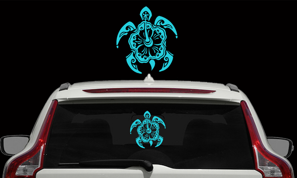 Hibiscus Turtle Decals
