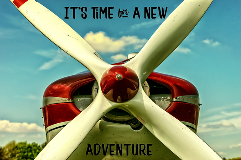 Its Time For A New Adventure -  Canvas Print