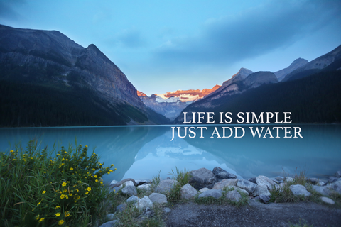 Life Is Simple  -  Canvas Print