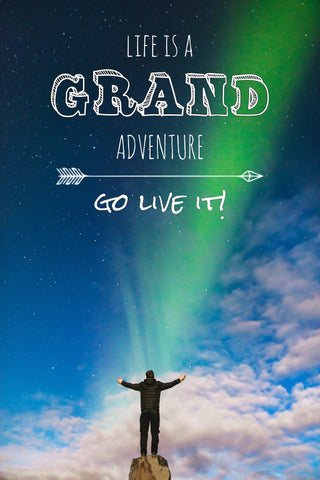 Life Is A Grand Adventure -  Canvas Print