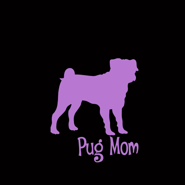 Pug Mom Decals