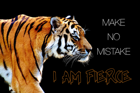 I AM FIERCE -  Canvas Print