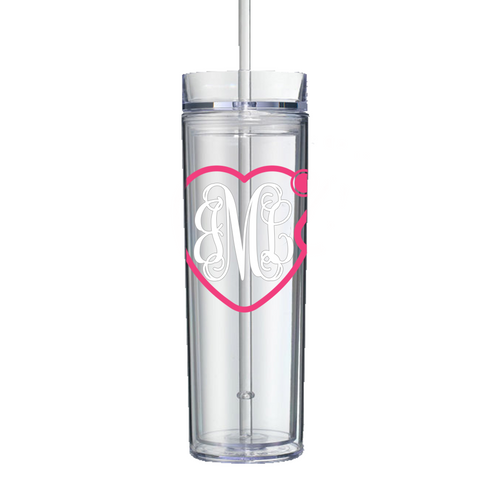 Medical Stethoscope Monogram Acrylic Tumbler