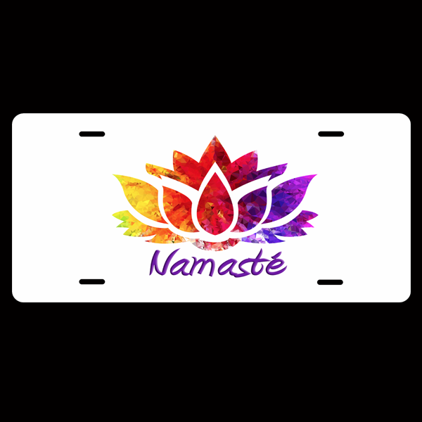 Add A Namaste' License Plate