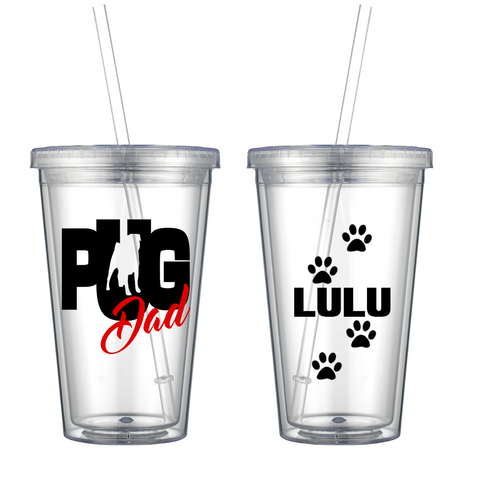 Pug Dad - Personalized Tumbler