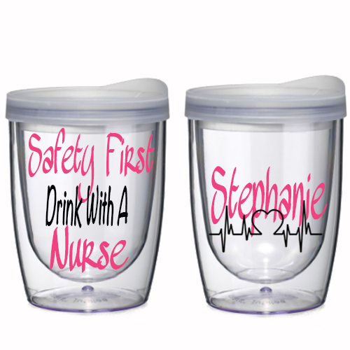 Nurse Personalized Wine Tumbler