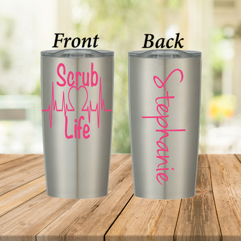 Scrub Life Stainless Steel Cup
