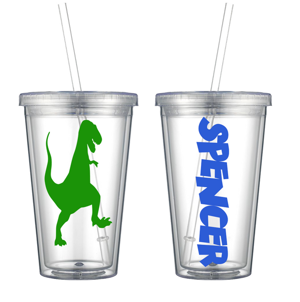 T-Rex Personalized Tumbler
