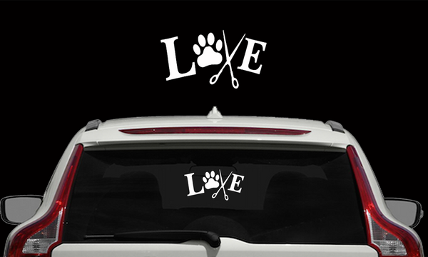 """Love"" Groomer Decals"