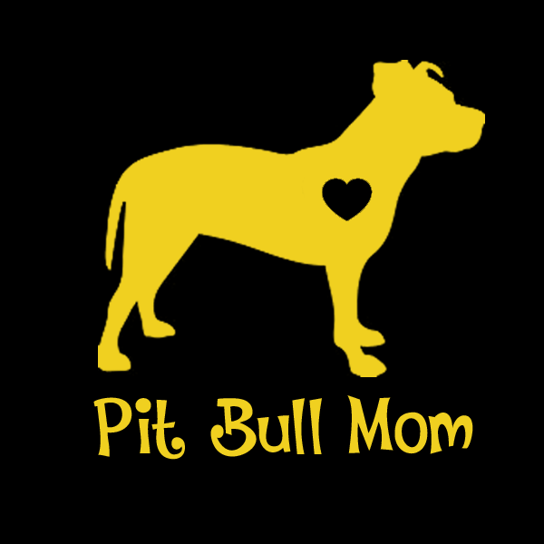 Add A Pit Bull (Uncropped Ears) Mom Decals