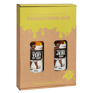 Chef Bernie's Vegan - Gluten Free - Twin Pack - Very Hot Sauce & Jerk Sauce - 2 x 250g