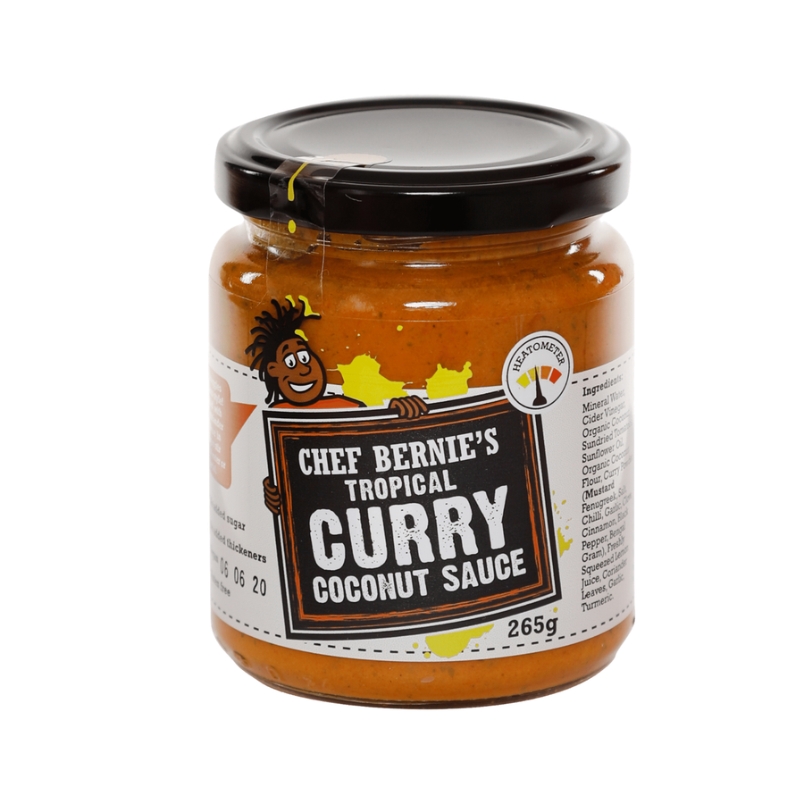 Caribbean Coconut Curry Paste - Vegan - 100% Natural - Gluten & Dairy Free - No Added Sugar - 265g Jar