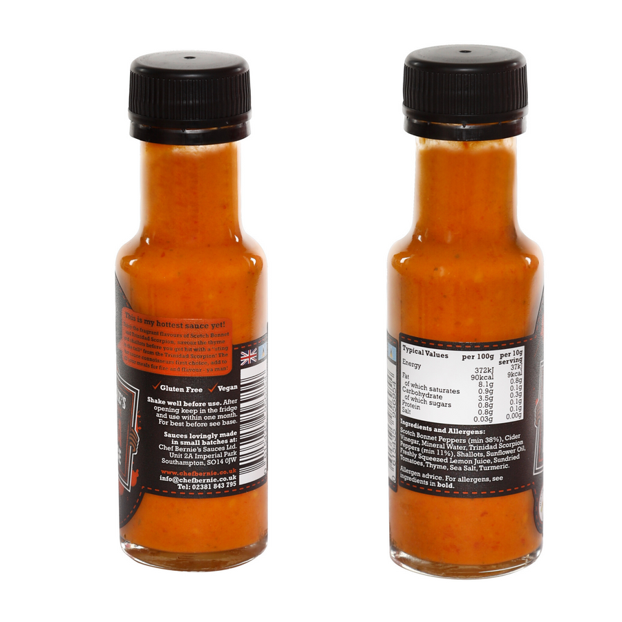 Chef Bernie's Special Reserve Extra Hot Sauce 100g Bottle