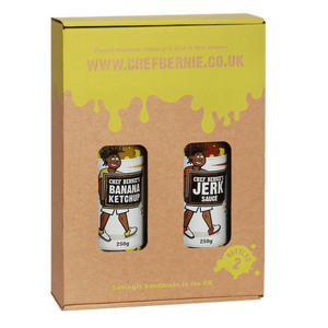 Jerk Sauce & Banana Ketchup Twin Pack - 100% Natural, Gluten Free and Dairy Free 2 x 250g